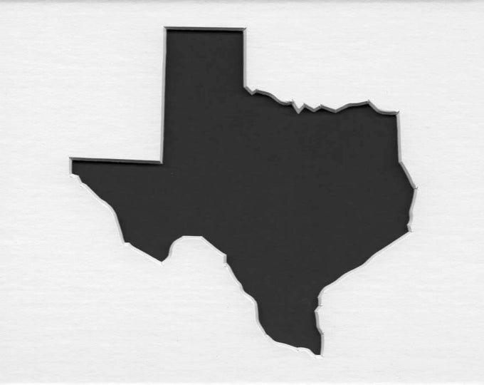 Texas State Stencil Made from 4 Ply Mat Board-Choose a Size-From 5x7 to 24x36