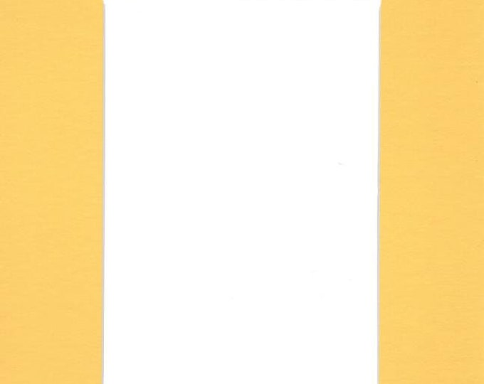 Pack of (2) 16x20 Acid Free White Core Picture Mats cut for 12x16 Pictures in Yellow