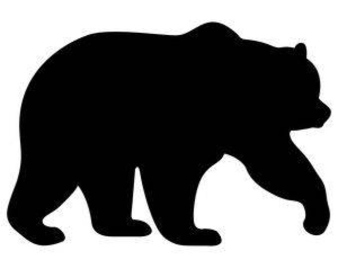 Pack of 3 Bear #2 Stencils Made from 4 Ply Mat Board, 18x24, 16x20 and 11x14 -Package includes One of Each Size