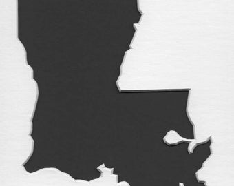 Pack of 3 Square Louisiana State Stencils Made From 4 Ply Mat Board 12x12, 8x8 and 6x6 -Package includes One of Each Size
