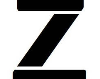 Letter Z Stencil Made from 4 Ply Mat Board