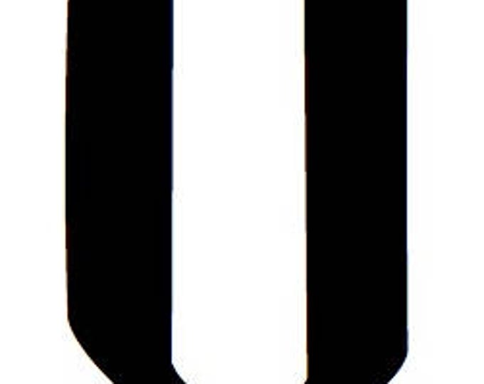 Letter U Stencil Made from 4 Ply Mat Board-Wizard Font