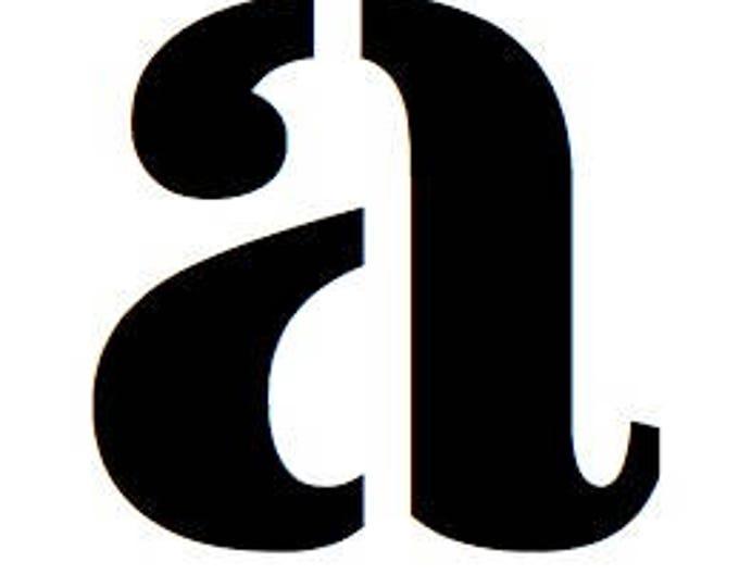 Full Alphabet Lower Case Stencils Made from 4 Ply Mat Board-Stardos Font