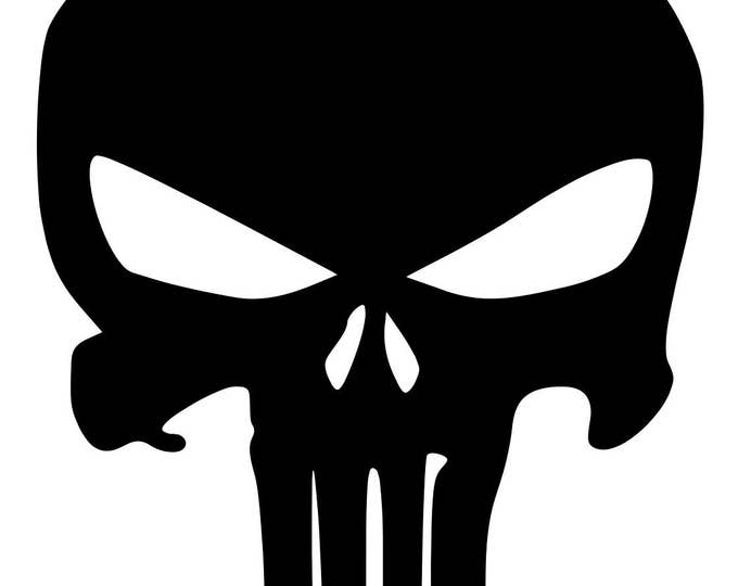 Pack of 3 Punisher Skull Stencils Made from 4 Ply Mat Board, 11x14, 8x10 and 5x7 -Package includes One of Each Size