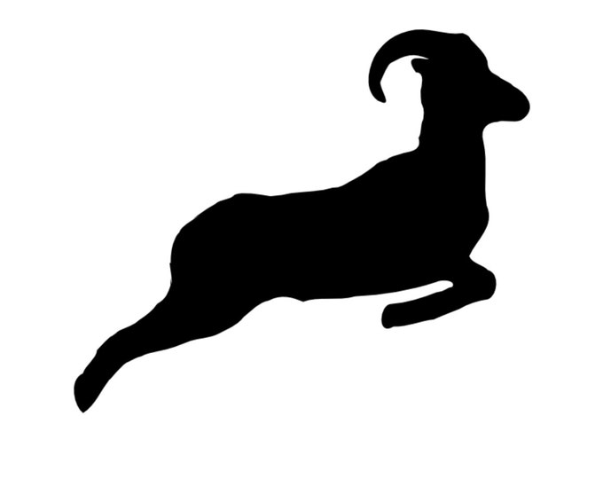 Ram Stencil Made from 4 Ply Mat Board-Choose a Size-From 5x7 to 24x36