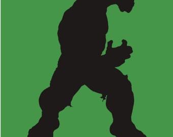 Hulk Stencil Made from 4 Ply Mat Board