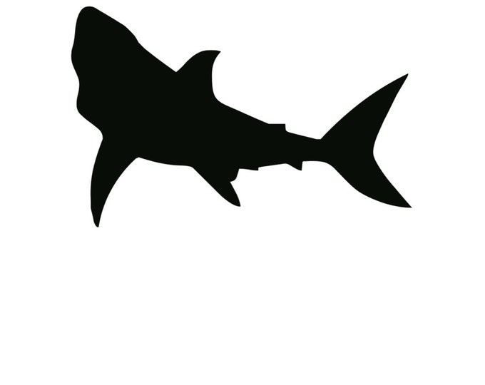 Pack of 3 Shark Stencils Made from 4 Ply Mat Board, 11x14, 8x10 and 5x7 -Package includes One of Each Size