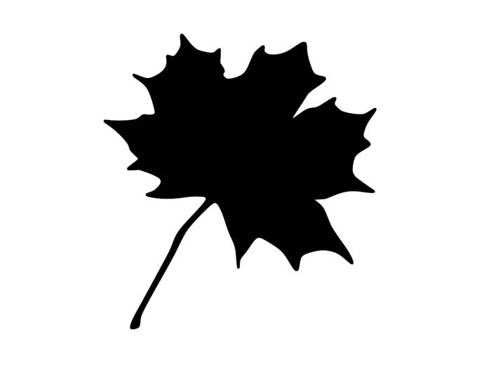 Pack of 3 Maple Leaf Stencils Made from 4 Ply Mat Board, 11x14, 8x10 and 5x7 -Package includes One of Each Size