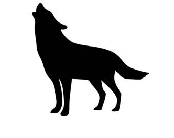 Howling Wolf Stencil Made from 4 Ply Mat Board-Choose a Size-From 5x7 to 24x36