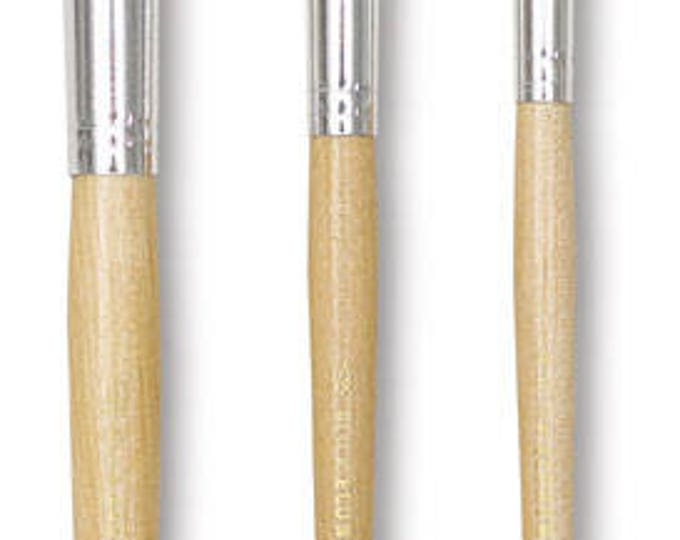 "Pack of 3 Stencil Brushes, 1"" , 1/2"" and 1/14"" -Package includes One of Each Size"