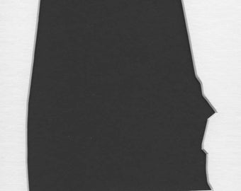Alabama State Stencil Made from 4 Ply Mat Board-Choose a Size-From 5x7 to 24x36