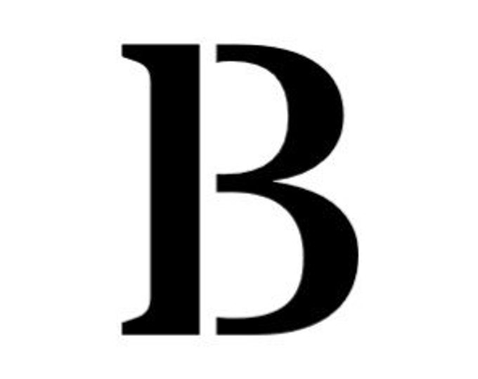 Letter B Stencil Made from 4 Ply Mat Board-Stardos Font