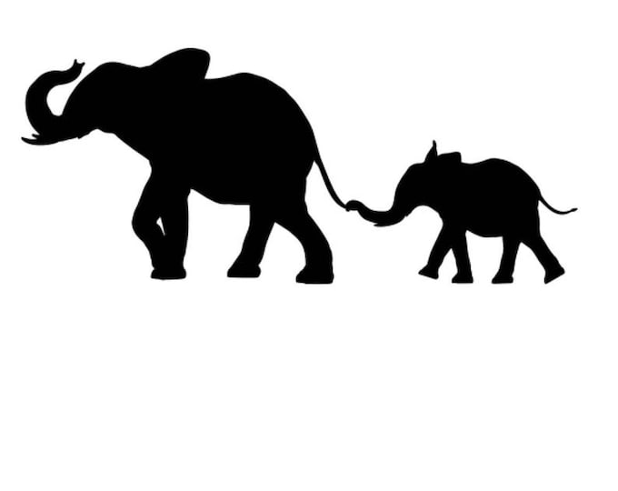 Elephant and Baby Stencil Made from 4 Ply Mat Board-Choose a Size-From 5x7 to 24x36