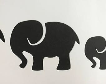 Elephant Family Stencil, Made from 4 Ply Mat Board