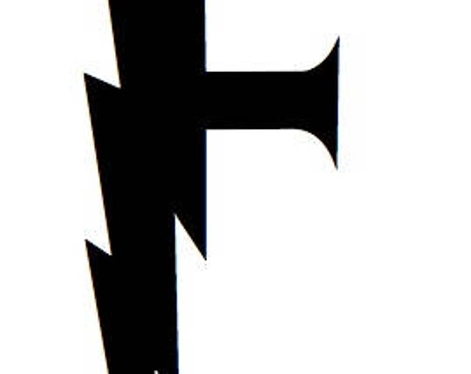 Letter F Stencil Made from 4 Ply Mat Board-Wizard Font