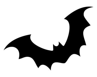 Bat  Stencil Made from 4 Ply Mat Board-Choose a Size-From 5x7 to 24x36