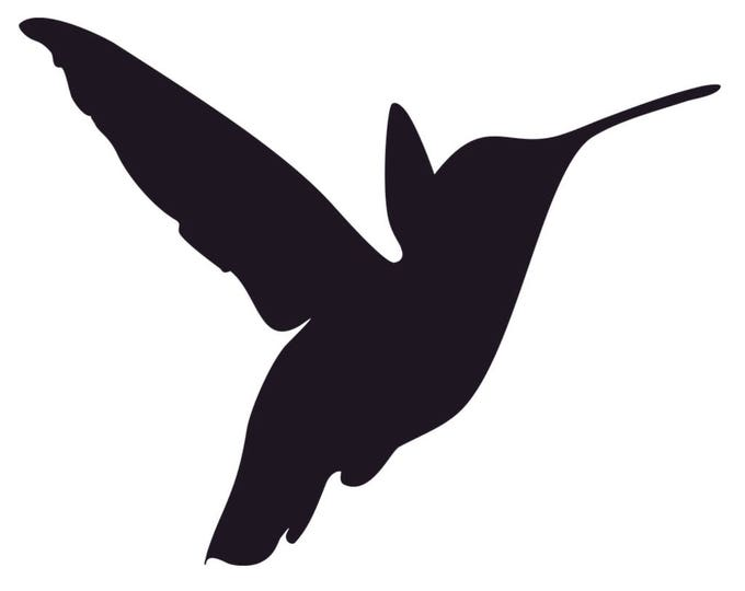Pack of 3 Hummingbird Stencils Made from 4 Ply Mat Board 16x20, 11x14, 8x10 -Package includes One of Each Size