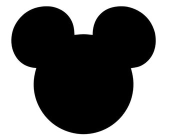 Mickey Mouse Head Mouse Ears Stencil Made from 4 Ply Mat Board or Black Cut Out