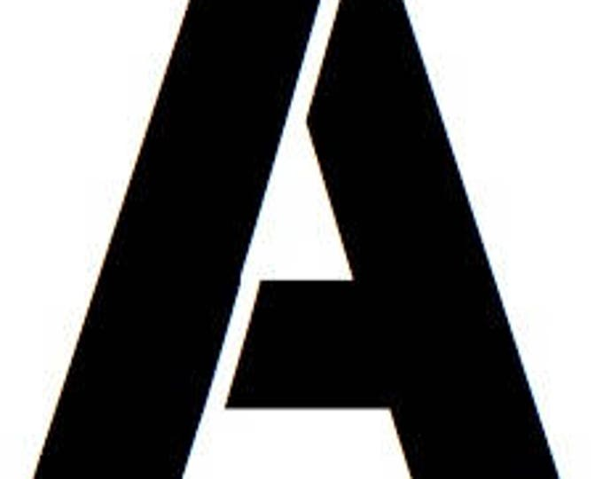 Letter A  Stencil Made from 4 Ply Mat Board