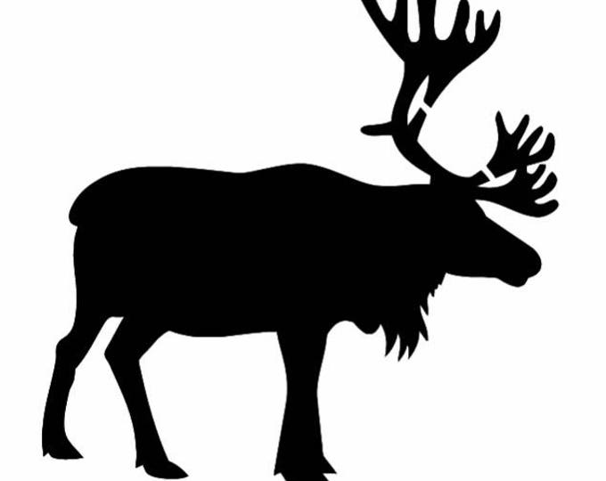 Pack of 3 Caribou-Reindeer Stencils Made from 4 Ply Mat Board, 11x14, 8x10 and 5x7 -Package includes One of Each Size