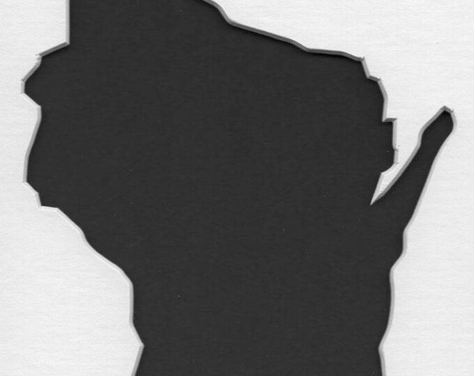 Pack of 3 Wisconsin State Stencils,Made from 4 Ply Mat Board 16x20, 11x14 and 8x10 -Package includes One of Each Size