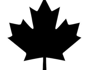 Canadian Maple Leaf Stencil Made from 4 Ply Mat Board-Choose a Size-From 5x7 to 24x36