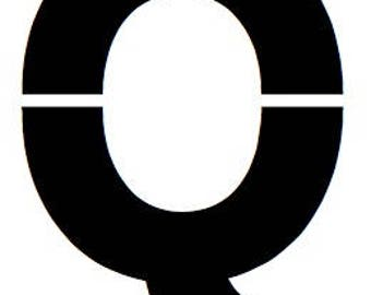 Letter Q  Stencil Made from 4 Ply Mat Board