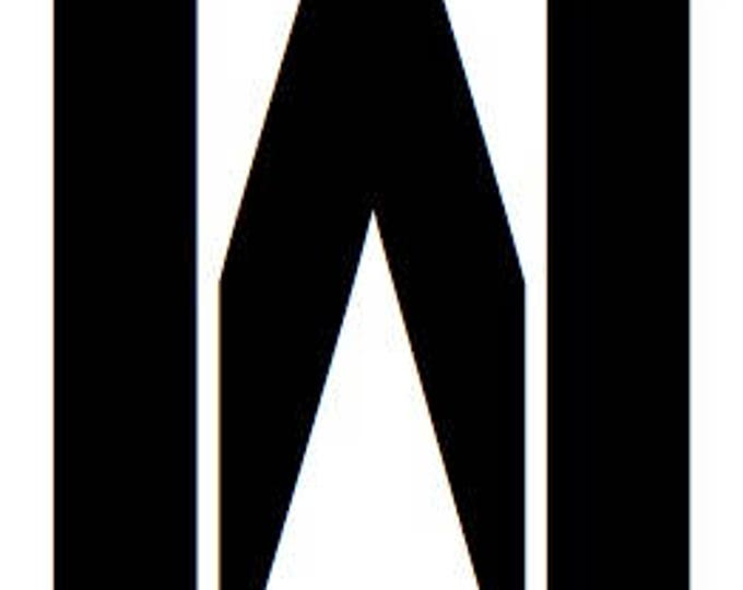 Letter W Stencil Made from 4 Ply Mat Board