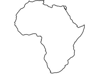 Pack of 3 Africa Stencils Made from 4 Ply Mat Board 16x20, 11x14, 8x10 -Package includes One of Each Size
