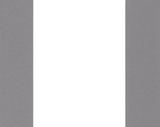 Pack of (2) 16x20 Acid Free White Core Picture Mats cut for 11x14 Pictures in Ocean Grey