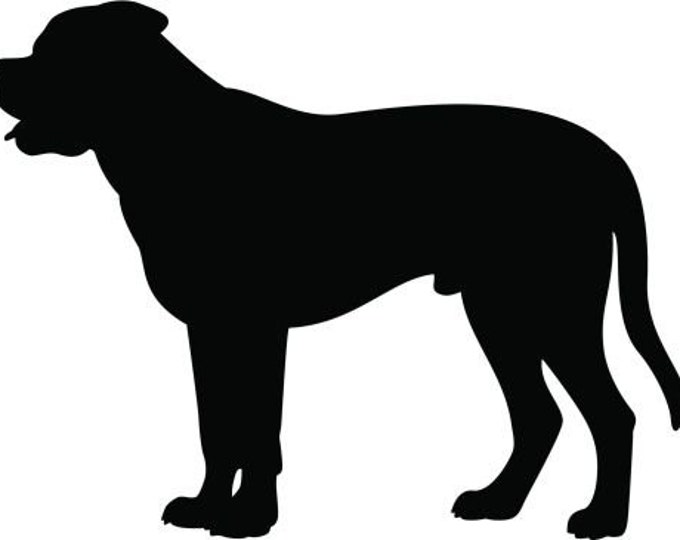 Pack of 3 Mastiff Stencils Made from 4 Ply Mat Board, 11x14, 8x10 and 5x7 -Package includes One of Each Size