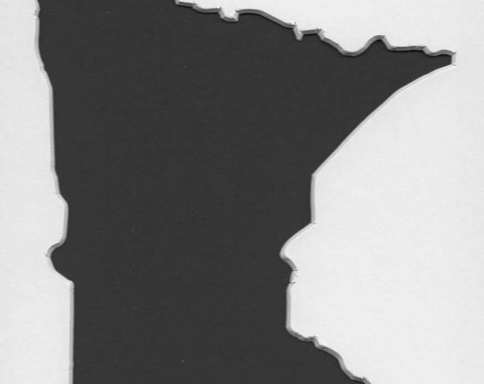 Pack of 3 Square Minnesota State Stencils Made From 4 Ply Mat Board 12x12, 8x8 and 6x6 -Package includes One of Each Size