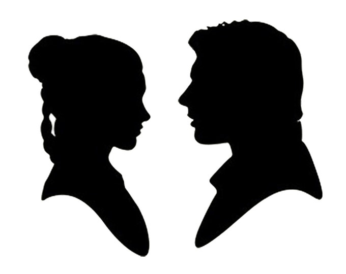 Pack of 3 Han Solo and Leia Stencils Made from 4 Ply Mat Board, 11x14, 8x10 and 5x7 -Package includes One of Each Size