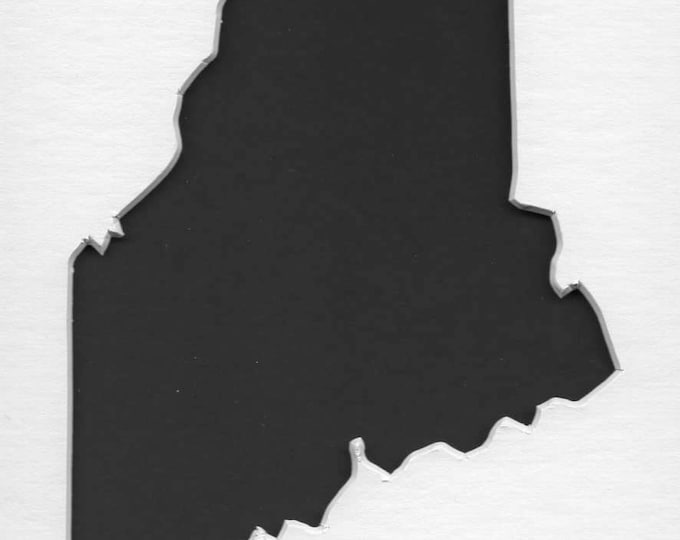 Pack of 3 Maine State Stencils Made From 4 Ply Mat Board 11x14, 8x10 and 5x7 -Package includes One of Each Size