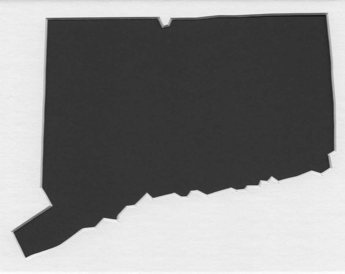 Pack of 3 Connecticut State Stencils Made From 4 Ply Mat Board 11x14, 8x10 and 5x7 -Package includes One of Each Size