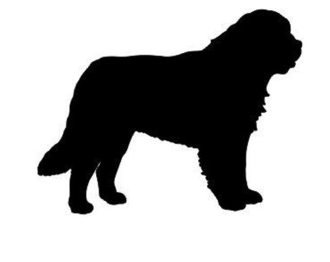 Pack of 3 St. Bernard Dog Stencils Made from 4 Ply Mat Board, 11x14, 8x10 and 5x7 -Package includes One of Each Size