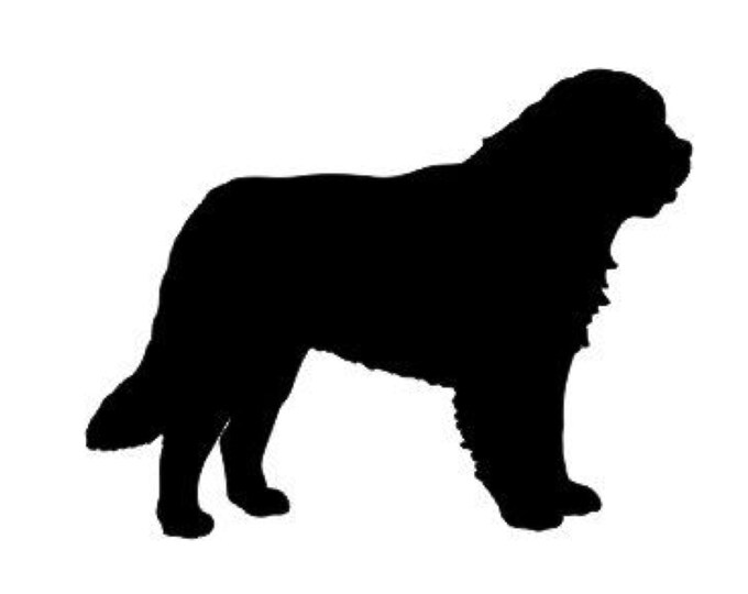 Saint Bernard Stencil Made from 4 Ply Mat Board-Choose a Size-From 5x7 to 24x36