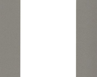 Pack of (5) 11x14 Acid Free White Core Picture Mats cut for 8x10 Pictures in Sage Green