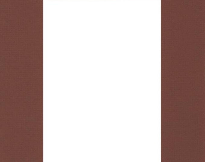 Pack of (5) 8x10 Acid Free White Core Picture Mats cut for 5x7 Pictures in Brown