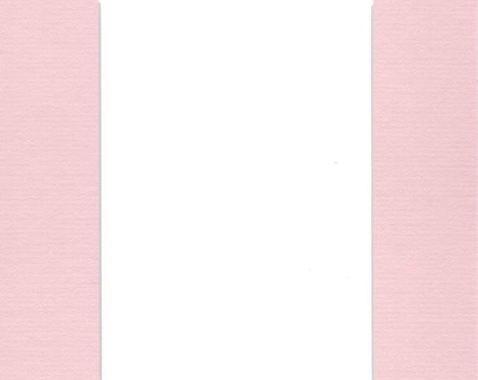 Pack of (2) 16x20 Acid Free White Core Picture Mats cut for 12x16 Pictures in Pink