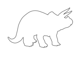 triceratops template etsy