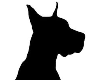 Great Dane Stencil Made from 4 Ply Mat Board-Choose a Size-From 5x7 to 24x36