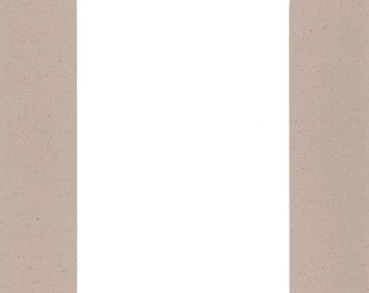Pack of (2) 18x24 Acid Free White Core Picture Mats cut for 12x18 Pictures in Light Tan