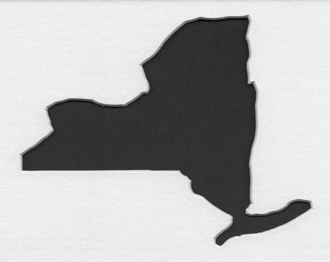 Pack of 3 New York State Stencils,Made from 4 Ply Mat Board 16x20, 11x14 and 8x10 -Package includes One of Each Size