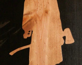 Firefighter 2 Stencil Made from 4 Ply Mat Board