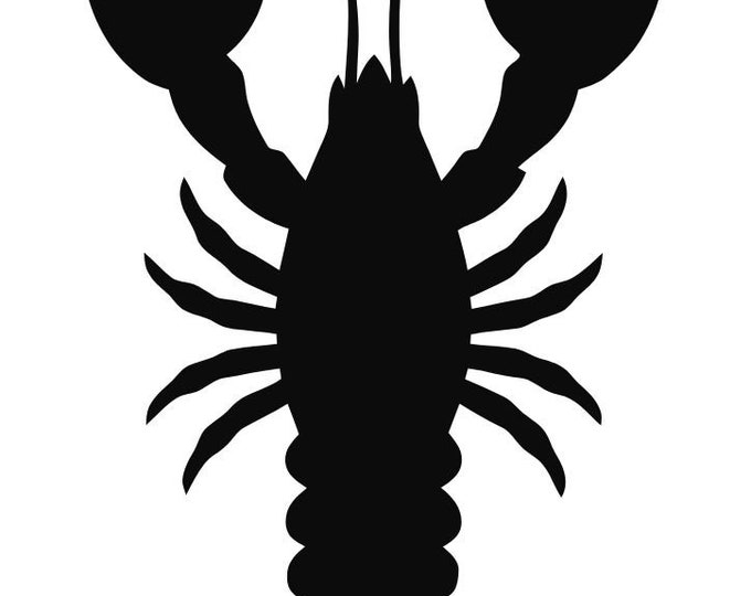 Pack of 3 Lobster   Stencils Made from 4 Ply Mat Board 16x20, 11x14 and 8x10 -Package includes One of Each Size