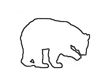 Bear Stencil Made from 4 Ply Mat Board-Choose a Size-From 5x7 to 24x36