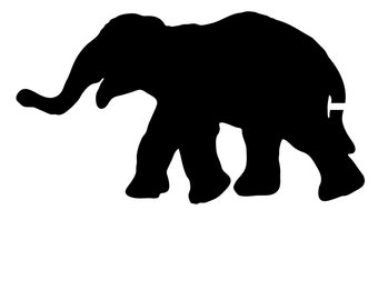 Pack of 3 Elephant Style 2 Stencils Made from 4 Ply Mat Board, 11x14, 8x10 and 5x7 -Package includes One of Each Size
