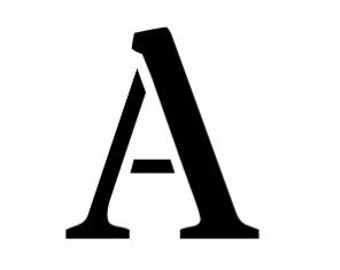 Letter A Stencil Made from 4 Ply Mat Board-Stardos Font