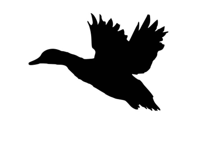 Pack of 3 Duck Flying  Stencils Made from 4 Ply Mat Board, 11x14, 8x10 and 5x7 -Package includes One of Each Size